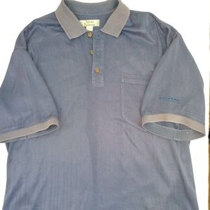 "Vintage Tommy Bahama silk polo L ""Firestone Club"""